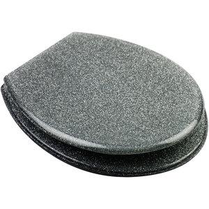 Resin Seat - Glitter Silver