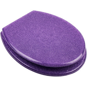 Resin Seat - Glitter Purple