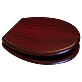MDF Wood Design Seat - Mahogany (Dark Red)