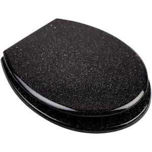Resin Seat - Glitter Black